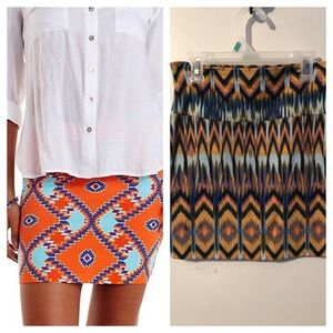 Charlotte Russe Aztec ikat pencil skirt Bodycon